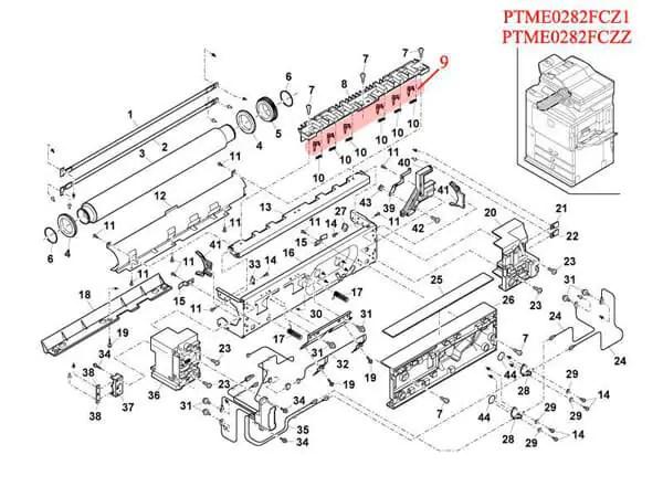 ناخنک هاترول AR-235/350/550 شارپ طرح 5 تایی (کد