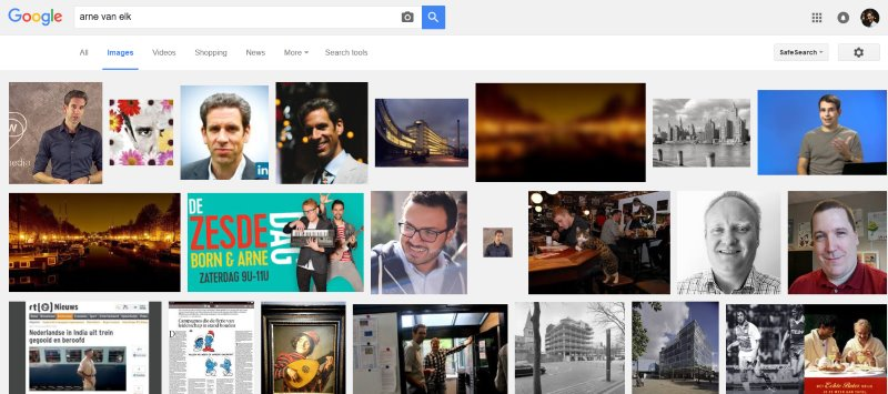 Arne van Elk on Google image search