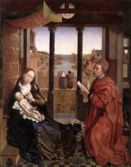 St Luke Drawing the Portrait of the Madonna WEYDEN, Rogier van der c. 1450