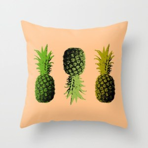 alex van rosuum - pineapple three - pillow