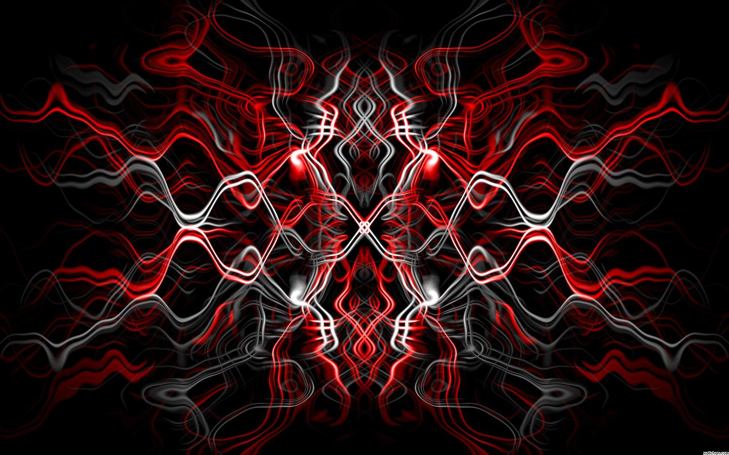 abstract black and red