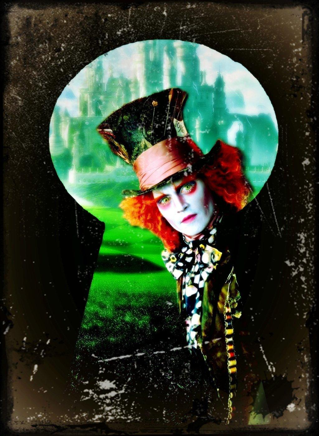 Alice Wonderland Mad Hatter Johnny Depp Wallpaper