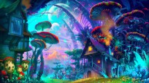 Nature Trippy Psychedelic Art