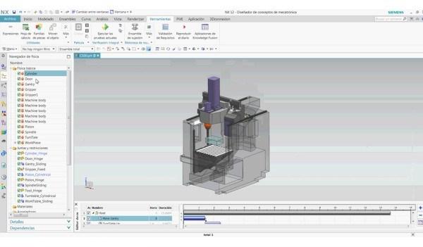 Mechatronics Concept Designer: análise de corpos rígidos