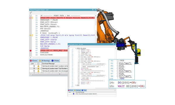Novedades de Tecnomatix Process Simulate: Robot program viewer