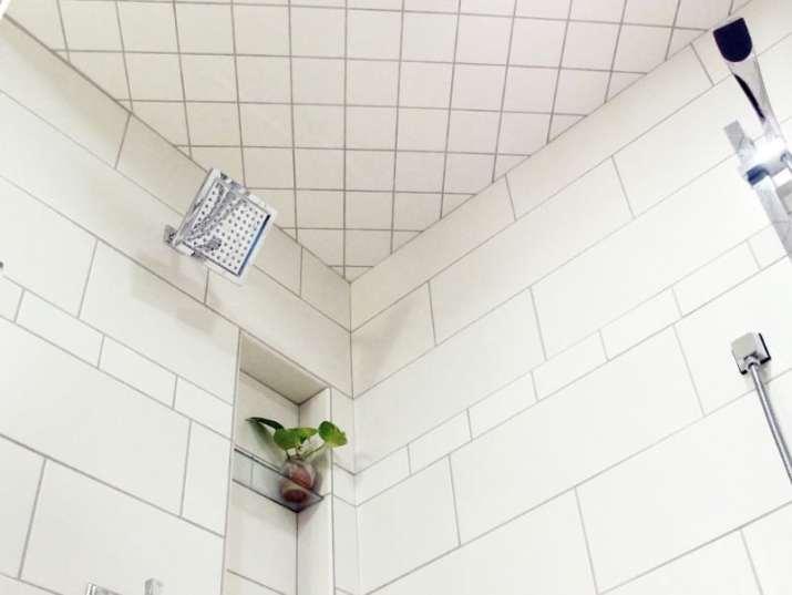 Bathroom with Ceramic Tile Ceiling