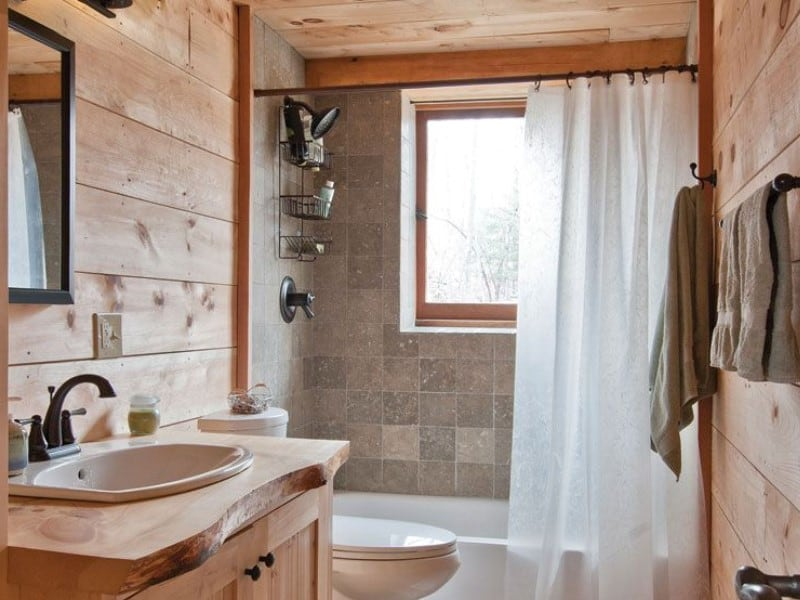 15 Rustic Bathroom Ideas 2020 (Design & Decoration) 1