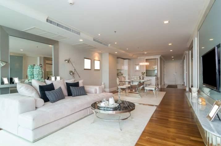Lengthy White Large Living Room