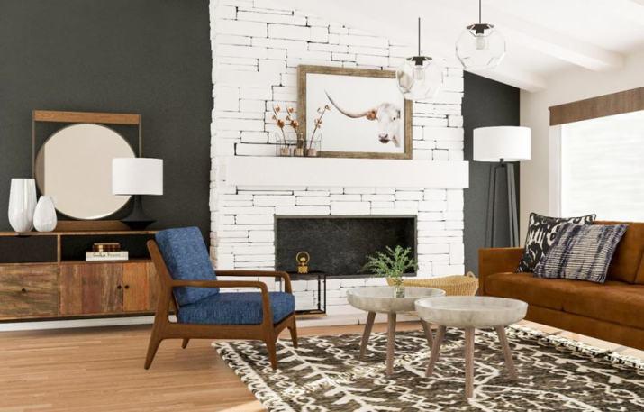 Delightful Rustic Living Room