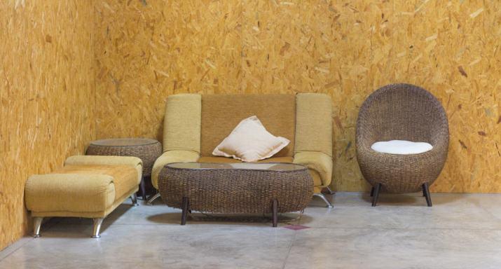 Earth-inspired, mini formal living room