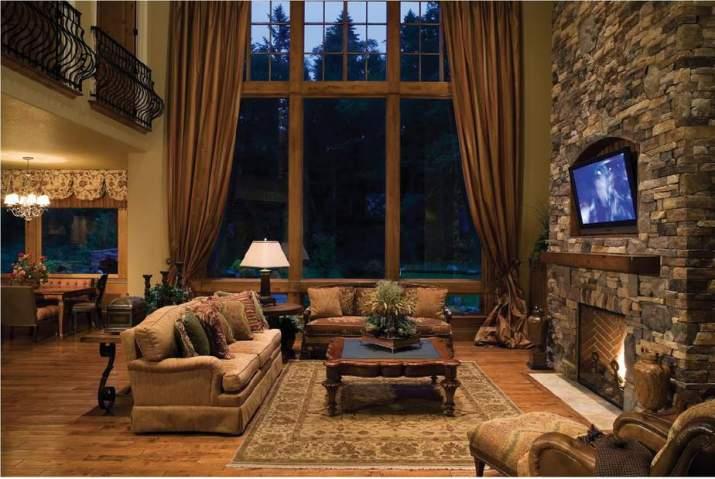 Extravagant Rustic Living Room