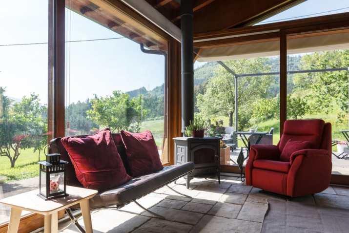 Living Room Wall with Windowpane