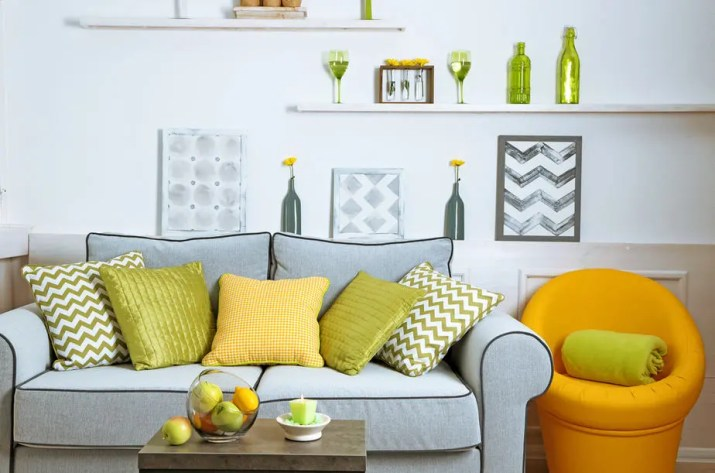Fresh Grey and Yellow Living Room Ideas