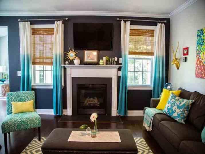 Print-Like Living Room Curtain