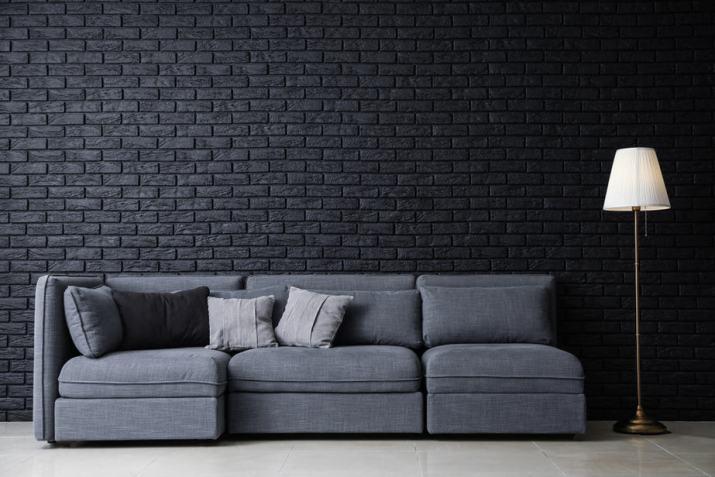 Dark Tone in Grey Living Room