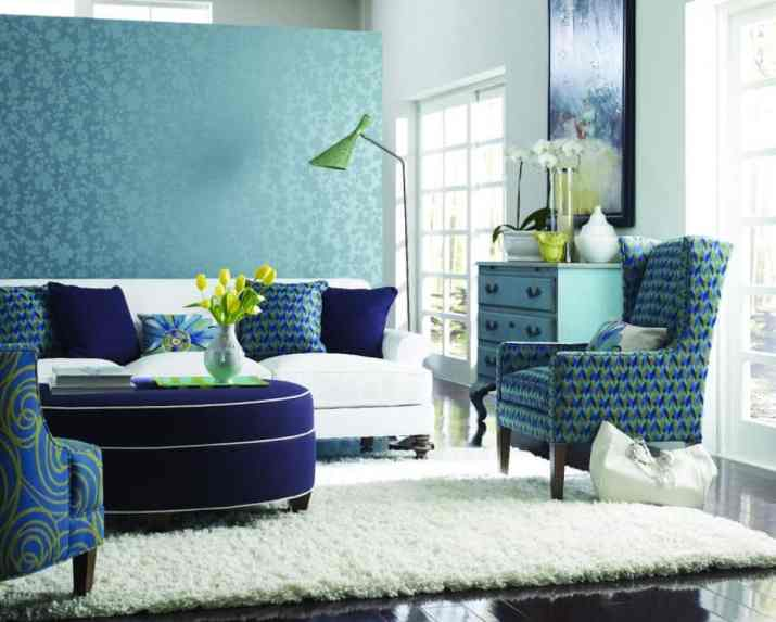 Amazing Teal Living Room