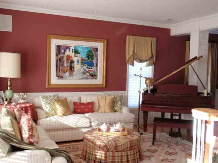 Classic Red Living Room