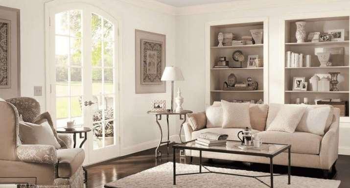 Moderate Living Room Arrangement.