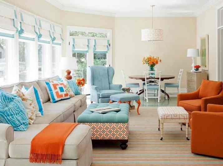 Fair Orange Living Room Ideas