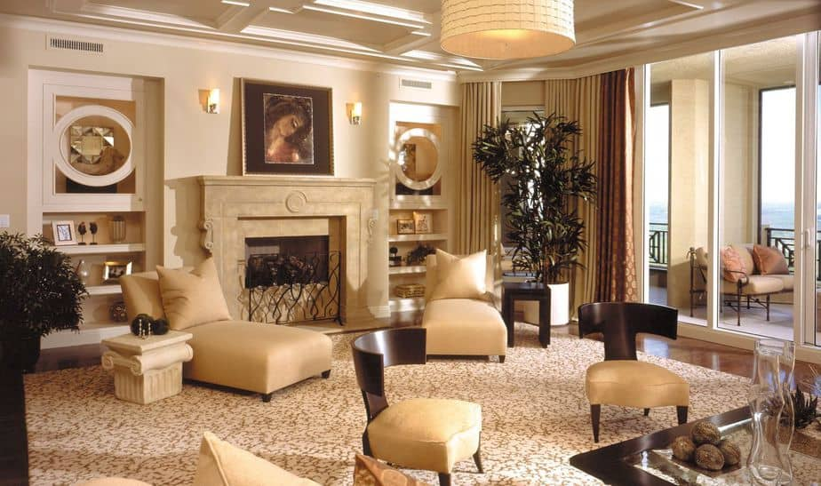 Glam Living Room with Lounge Chairs