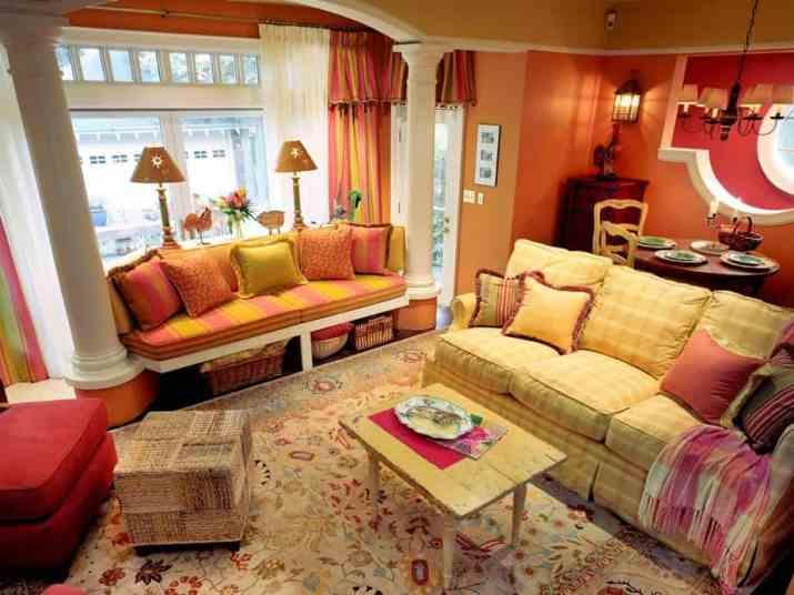 Magnificent Orange Living Room