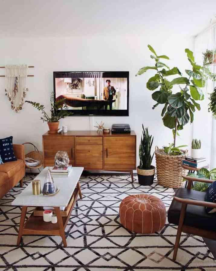 Natural Mid Century Modern Living Room. Source: Pinterest