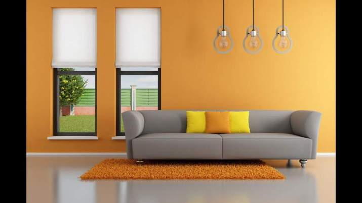 Pale Orange Living Room