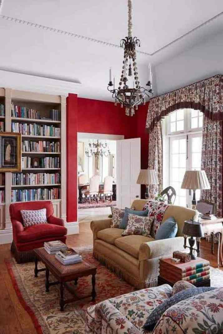Reading Room with Fresh Red
