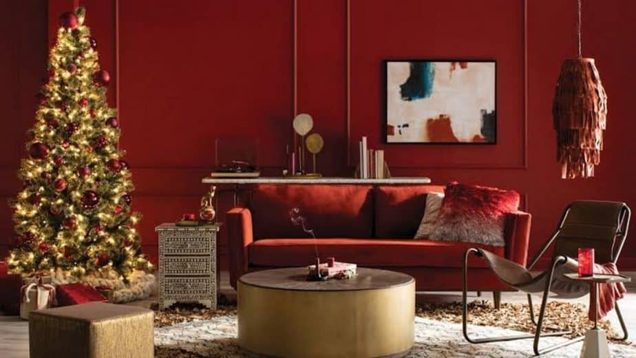 Red Wood Paneling