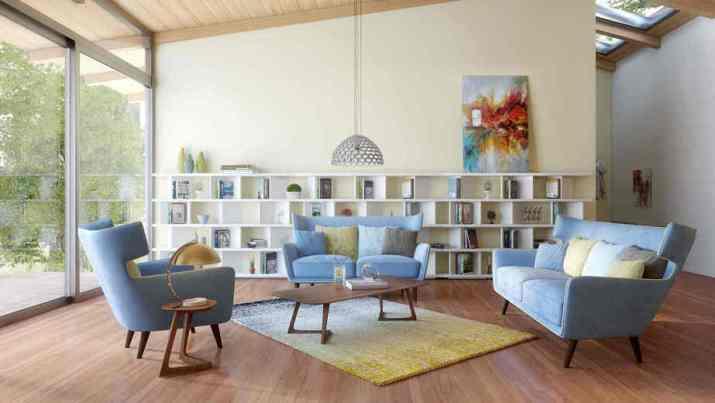 Roomy Mid Century Modern Living Room. Source: donpedrobrooklyn.com