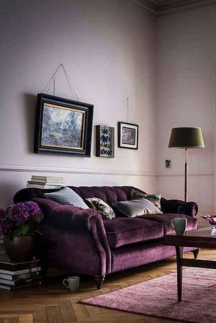 Purple Velvet Living Room. Source: Pinterest