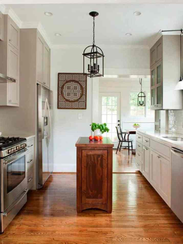 Two-Sided Narrow Kitchen Cabinet