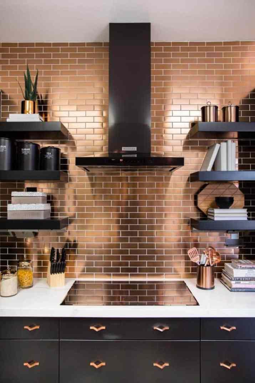Elegant, Mirrored Kitchen Backsplash