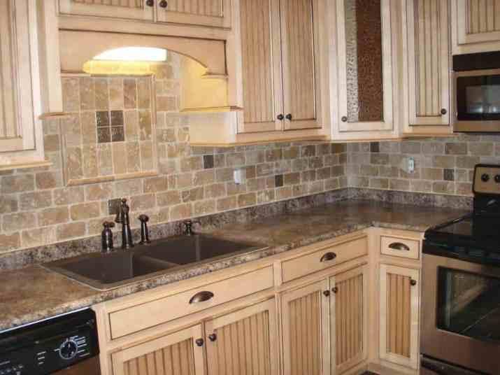 Traditional, Travertine Kitchen Backsplash