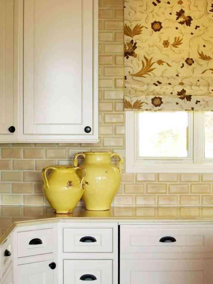 Cute, Yellow Kitchen Backsplash