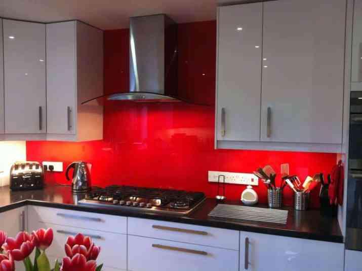 Bold, Mirrored Kitchen Backsplash