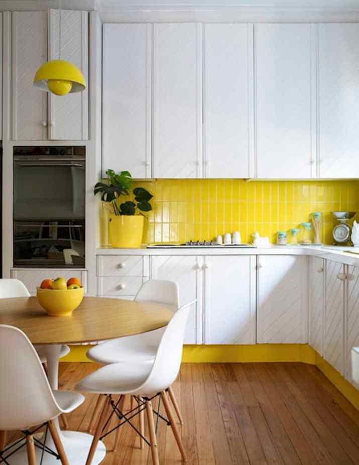 Juicy Yellow Kitchen Backsplash