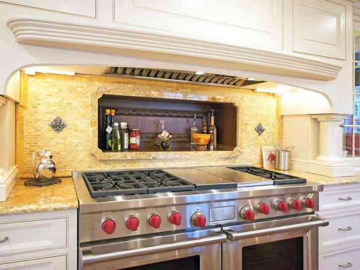 Luminous, Yellow Kitchen Backsplash