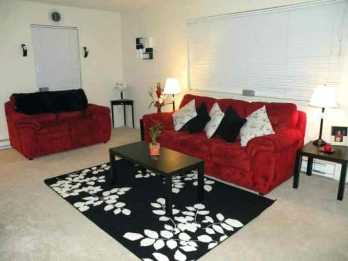 Ordinary Red and Black Living Room