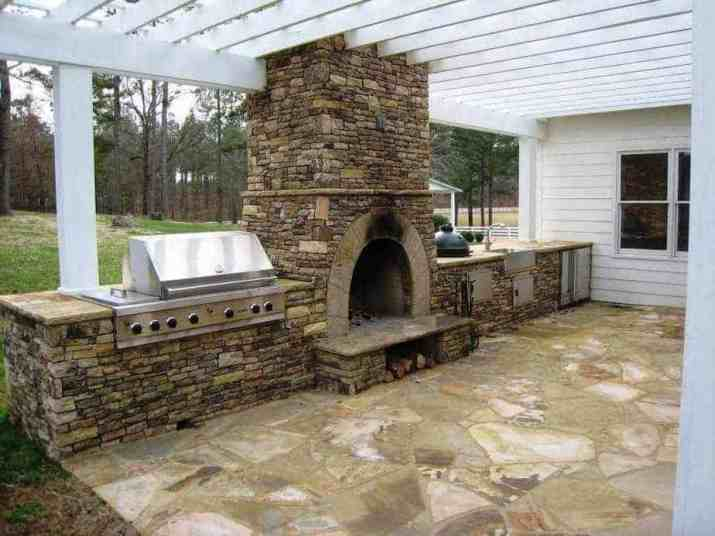 Partial Big Green Egg Outdoor Kitchen