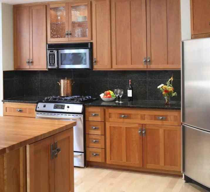 Comfortable Oak Kitchen Cabinet