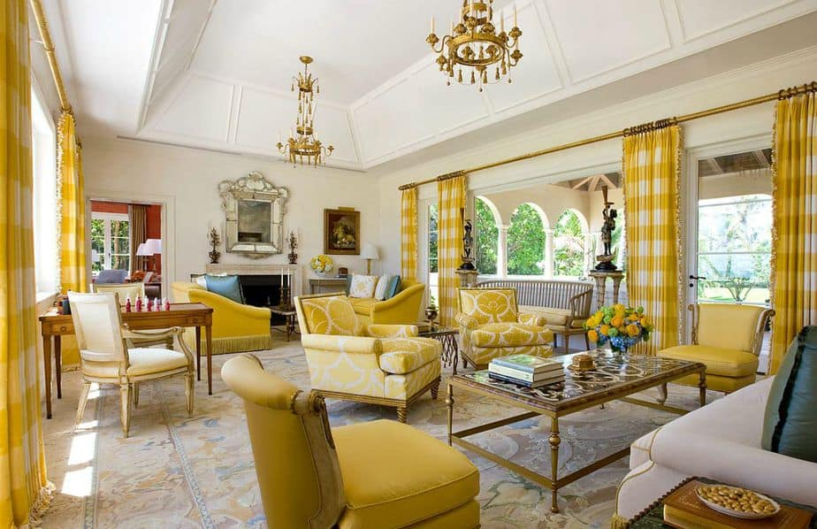 Resourceful Yellow Living Room