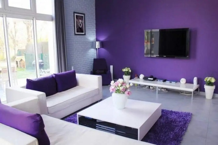 Restful Purple Living Room
