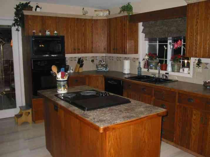 Traditional Dark Kitchen Cabinet