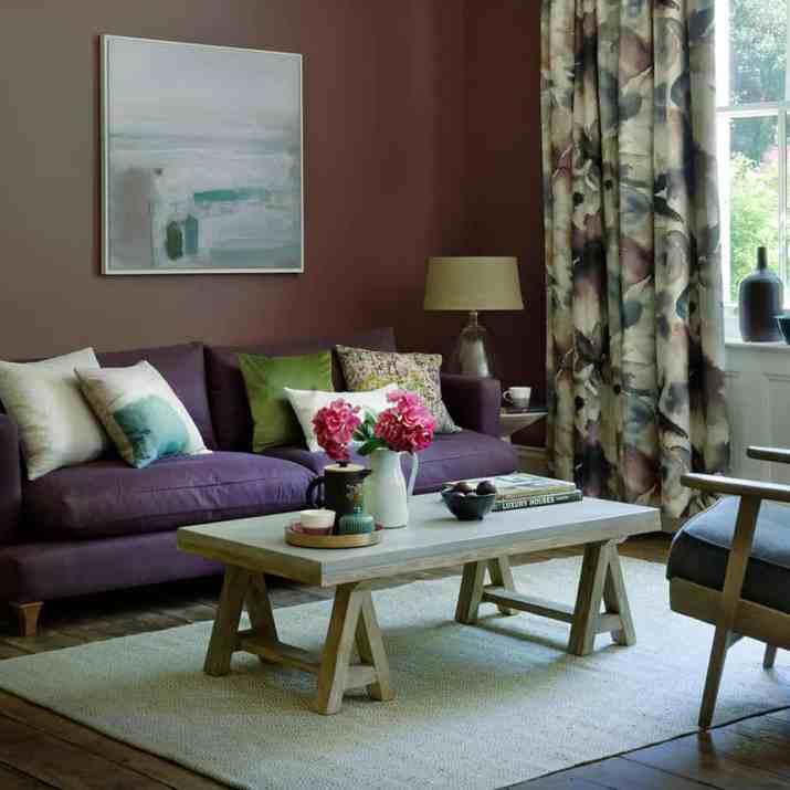 Snug Purple Living Room