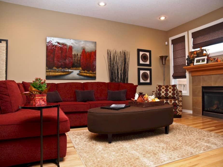 10 Red And Brown Living Room Ideas 2021 Bold And Warm