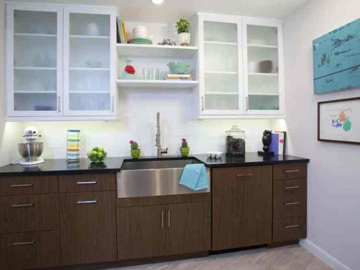 Comfortable Two Toned Kitchen Cabinet
