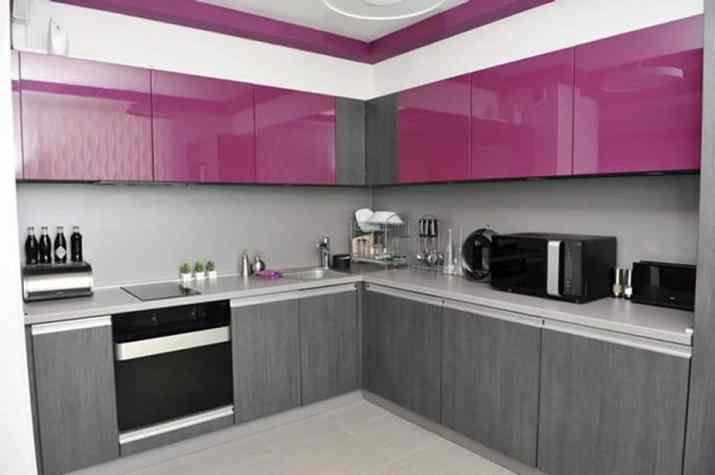 Creative Two Toned Kitchen Cabinet