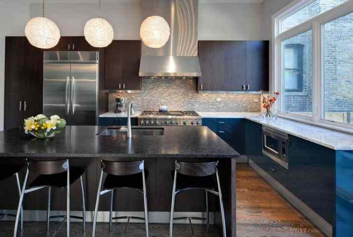 Dazzling Two Toned Kitchen Cabinet