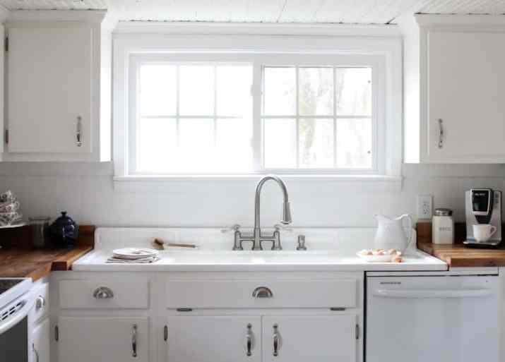 Cozy Kitchen Cabinet with Double Windows